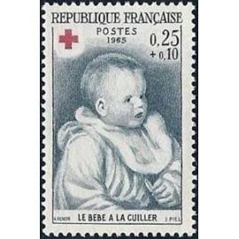 France Yvert Num 1466 ** Croix Rouge Renoir  1965