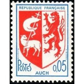 France Yvert Num 1468 ** Armoiries  Auch 1966