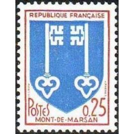 France Yvert Num 1469 ** Armoirie Mont de Marson 1966
