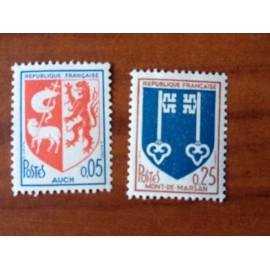 France Yvert Num 1468-1469 ** Armoirie  1966