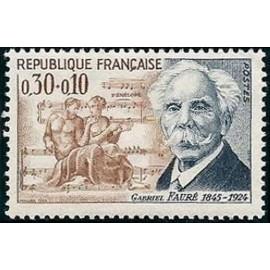 France Yvert Num 1473 ** Gabriel Faure  1966