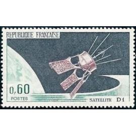 France Yvert Num 1476 ** Satellite  1966