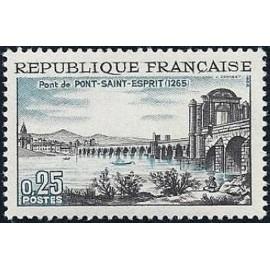 France Yvert Num 1481 ** Pont St Esprit  1966