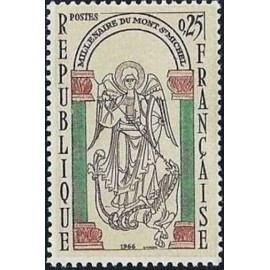 France Yvert Num 1482 ** Mont Saint Michel  1966