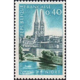 France Yvert Num 1485 ** Niort  1966