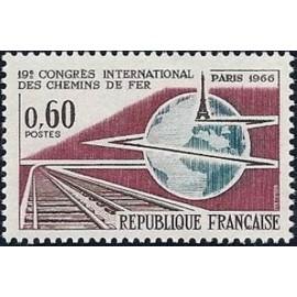France Yvert Num 1488 ** SNCF Eiffel  1966