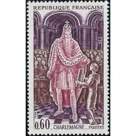 France Yvert Num 1497 ** Charlemagne  1966