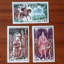 France Yvert Num 1495-1497 ** Histoire  1966