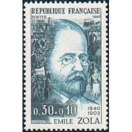 France Yvert Num 1511 ** Emile Zola  1967