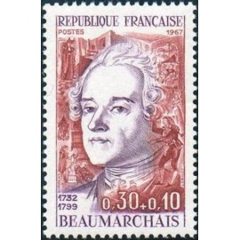 France Yvert Num 1512 ** Beaumarchais  1967