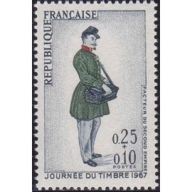 France Yvert Num 1516 ** Journee du timbre  1967