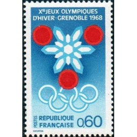 France Yvert Num 1520 ** JO Grenoble  1967