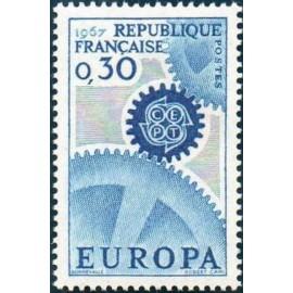 France Yvert Num 1521 ** Europa  1967