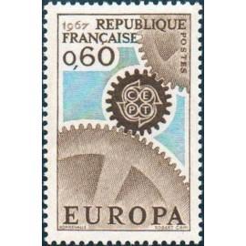 France Yvert Num 1522 ** Europa  1967