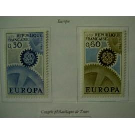 France Yvert Num 1521-1522 ** Europa  1967