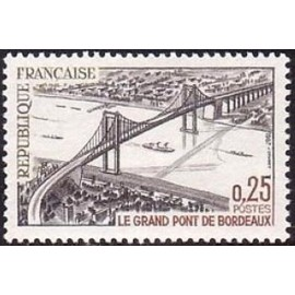 France Yvert Num 1524 ** Pont de Bordeaux  1967