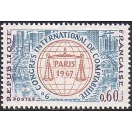 France Yvert Num 1529 ** Comptabilité  1967