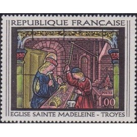 France Yvert Num 1531 ** Tableau Vitrail  1967