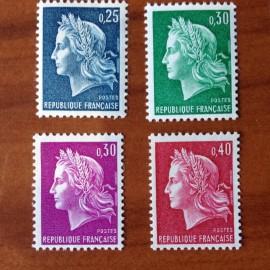 France Yvert Num 1535-1536B ** Cheffer  1967