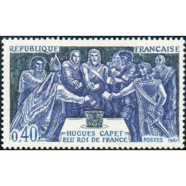 France Yvert Num 1537 ** Hugues Capet  1967