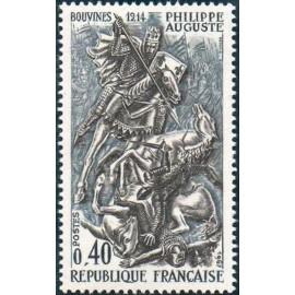 France Yvert Num 1538 ** Philippe II Auguste  1967
