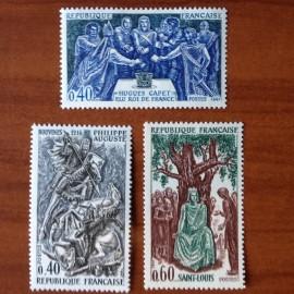 France Yvert Num 1537-1539 ** Hiqtoire  1967
