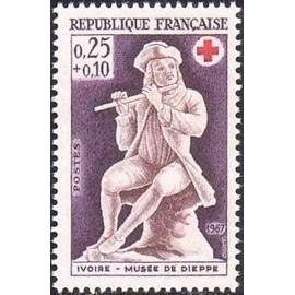 France Yvert Num 1540 ** Croix Rouge  1967
