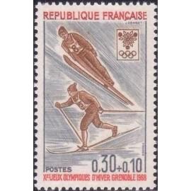 France Yvert Num 1543 ** JO Grenoble ski  1968