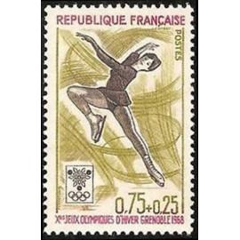 France Yvert Num 1546 ** JO Grenoble Patinage  1968