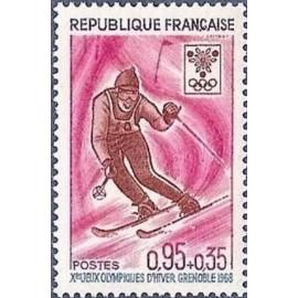 France Yvert Num 1547 ** JO Grenoble   1968