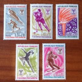 France Yvert Num 1543-1547 ** JO Grenoble Slalom  1968