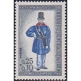 France Yvert Num 1549 ** Journee du timbre  1968