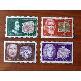 France Yvert Num 1550-1553 **   1968