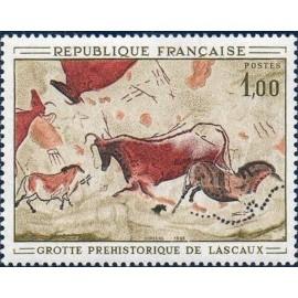 France Yvert Num 1555 ** Tableau Lascaulx  1968