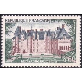 France Yvert Num 1559 ** Château de Langeais  1968