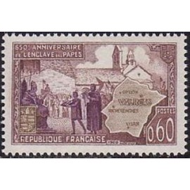 France Yvert Num 1562 ** Valreas  1968