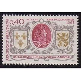France Yvert Num 1563 ** Flandre  1968