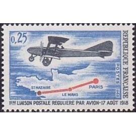 France Yvert Num 1565 ** Avion  1968