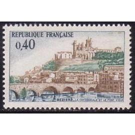 France Yvert Num 1567 ** Pont a Beziers  1968