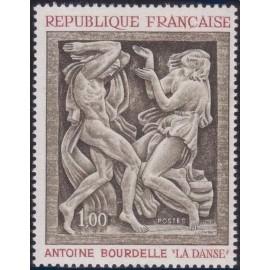 France Yvert Num 1569 ** Tableau BourdelleT  1968