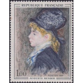 France Yvert Num 1570 ** Tableau Renoir  1968
