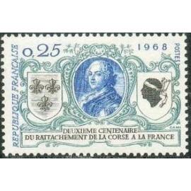 France Yvert Num 1572 ** Corse  1968
