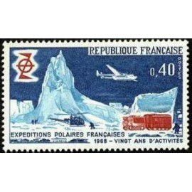 France Yvert Num 1574 ** Polaire  1968