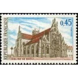 France Yvert Num 1582 ** Eglise de Brou Ain  1969