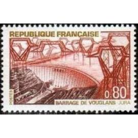 France Yvert Num 1583 ** Barrage Vouglans Jura  1969