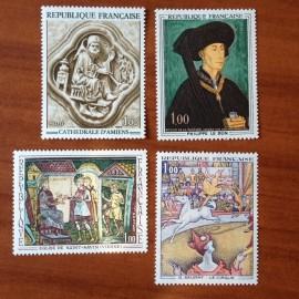 France Yvert Num 1586-1588A ** Tableau   1969