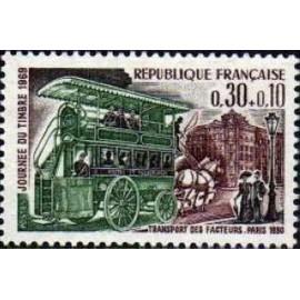 France Yvert Num 1589 ** Journee du timbre  1969
