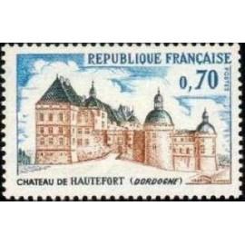 France Yvert Num 1596 ** Château Hautefort  1969