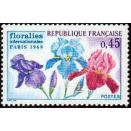 France Yvert Num 1597 ** Floralies de Paris  1969