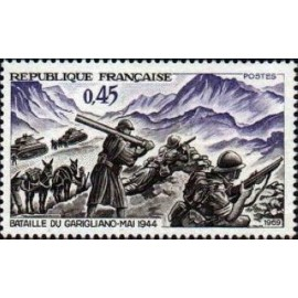 France Yvert Num 1601 ** Garigliano  1969
